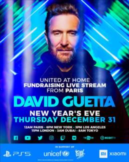 Poster of David Guetta livestream United at Home in Paris