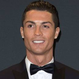 Picture of Cristiano Ronaldo in a suit